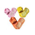 China Colorful Customize Non Slip Socks Trampoline Socks Pvc Rubber Bottom Anti-Slip Yoga Socks for sale