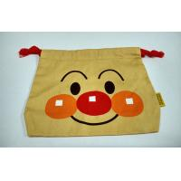 Wholesale Medium Clown Facial Canvas Bag , Casual Promotional Drawstring Bags with Red Rope from china suppliers