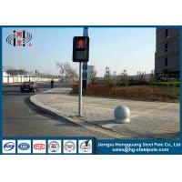 Wholesale Hot Roll Steel Traffic steel light poles  , Traffic Light Post for Crosswalk from china suppliers