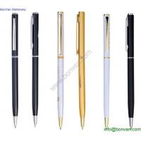 Wholesale logo printed metal ball pen,promotional slim low price metal ballpoint pen from china suppliers