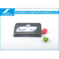 Wholesale Transparent Black Eyelash Paper Packaging Box With Plastic Inner / Hot Stamping Logo from china suppliers