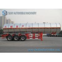 Wholesale 3 Axle 38000L Butyl Acetate Chemical Liquid Tank Trailers With Ellipse Shaped from china suppliers