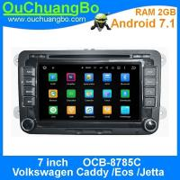 Wholesale Ouchuangbo auto radio 2G RAM dvd player for Volkswagen Caddy Eos Jetta with Androi 7.1 AUX-IN MP3 FM USB SWC Function from china suppliers