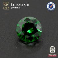 Wholesale 5A Grade Round Diamond Cut Emerald Green synthetic CZ from china suppliers