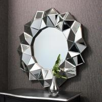 Buy cheap facet round wall mirror home decor from wholesalers