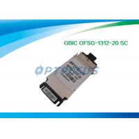 Wholesale Duplex Single Mode SFP Optical Transceiver 1.25G GBIC - LX Optical Transceiver Module 1310nm 20KM SC from china suppliers