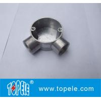 TOPELE 25mm / 32mm BS Electrical Conduit Galvanized Aluminum Circular Junction Box For Conduit Fittings