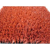 Wholesale Red Coloured Fibrillated PE Artificial Commercial Artificial Grass from china suppliers