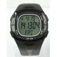 Wholesale Black ABS Case Heart Rate Monitor Watch PU Band with Chest Belt from china suppliers