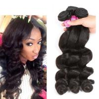 Wholesale Grade 7A Virgin Peruvian Human Hair Weave Peruvian Loose Wave Color 1B from china suppliers