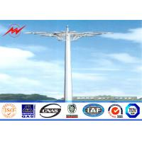 Wholesale Q345 Octagonal Stadium Light High Mast Tower 10 200W HPS Lights With Raising System from china suppliers
