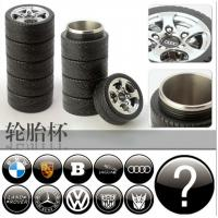 Wholesale stainless steel Tire trye shape cup Travel mug Creative Coffee Cup,can be with all the car brand from china suppliers