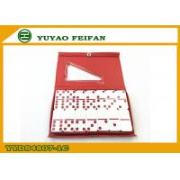 Wholesale Red Dot Double 6 Dominoes Game Set Melamine Material 48 x 24 x 7mm from china suppliers