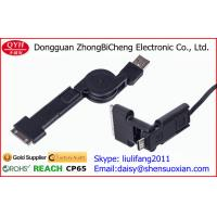 Wholesale 3 In 1 USB Retractable Charging Cable Sync Data Charger Kit 80cm from china suppliers