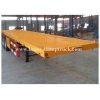 Wholesale Four Axles Low Bed Semi Trailer For Transport Containers , 40 Tons Loading Capacity from china suppliers