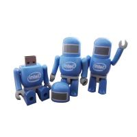 Wholesale 100% Real Capacity 8GB Robot Shape Plastic Unique USB Memory Stick Blue from china suppliers