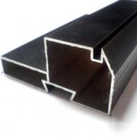Wholesale Black Powder Coated RAL9006 Aluminium LED Profiles / Aluminum Extrusion Profiles from china suppliers