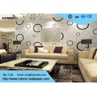 Wholesale Geometric Non - woven Modern Removable Wallpaper with Black and White Circles from china suppliers