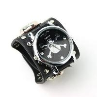 Quality Punk Gothic Ladies Women Men Gens' Genuine Leather Wrist Watch for sale