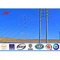 Wholesale 12m 800Dan Galvanised Steel Poles Transmission Line Poles With Stepped Bolt from china suppliers