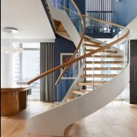 Wholesale Modern Wooden Steel Curved Staircase Design from china suppliers