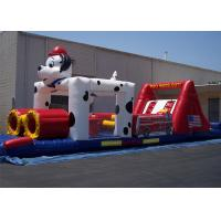 Wholesale 0.55mm PVC 12*4*3m Dog Inflatable Obstacle Course For Obstacle Sport Game from china suppliers