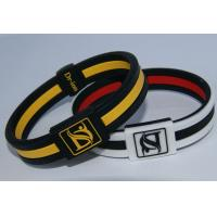 Wholesale Eco - Friendly Silicone Negative Ion Bracelets Customized Black Bangles from china suppliers