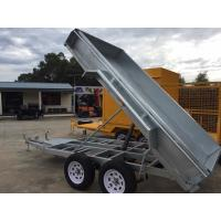 Wholesale Electric Pump Galvanised Hydraulic Tipper 8 X 5 Tandem Trailer 2000kg from china suppliers