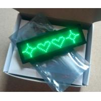 Wholesale Programmable Rechargeable 12x48MM Green Led Name Tag Advertising Price Promotional Tag from china suppliers
