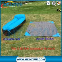 Quality New design!!!Fast Inflatable Air Bag Sofa Outdoor plastic folding sun inflatable air lounger with pillow for sale
