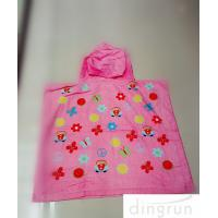 Wholesale Cartoon Design Childrens Poncho Beach Towels 100% Machine Washable Cotton from china suppliers