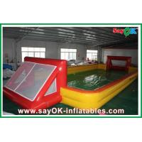 Wholesale Outdoor Custom 12 x 2 x 6m Inflatable Soccer Field / Football Pitch With Air Pump from china suppliers