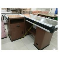 Wholesale Convenience Supermarket Checkout Counter And Cashier Desk  With Display Shelves from china suppliers