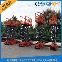 Wholesale 4m - 14m Lifting Height Electric Hydraulic Scissor Lift Tables 3.2 km/h Travel speed from china suppliers