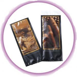 Quality Fashional Cuba Habanos plastic Cigar Bags / Cigar Case Humidor for sale
