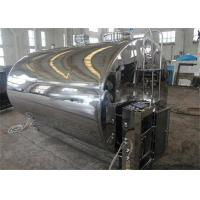 Wholesale Liquid Yoghurt Milk Cooling Stainless Steel Tanks , Refrigerated Milk Storage Tanks with SUS304 from china suppliers