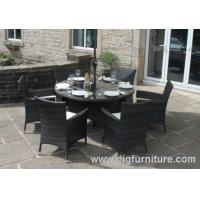 Wholesale Household Outdoor Furniture Dining Set for Garden With Parasol Hole , Dining Tables and Chairs from china suppliers