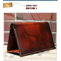 Wholesale Simple high quality full grain leather men purse design brand from china suppliers