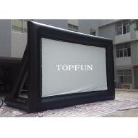 Wholesale Outdoor Black PVC Tarpaulin Inflatable Movie Screen With Support Behind from china suppliers