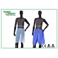 Wholesale Blue Non Woven Men Silk Boxer Shorts For Spa Massage / Hair Saloon , Free Sample from china suppliers