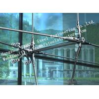 Wholesale Stainless Steel Fin Fully Spider Fitting Frameless Glass Curtain Wall for showroom from china suppliers