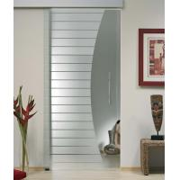 Wholesale Interior Sliding Flat Tempered Glass , Tempered Glass Office Door from china suppliers