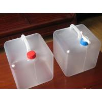 Buy cheap Household family use camping outdoor foldable water container, PE Collapsible plastic bags from wholesalers