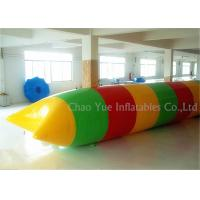 Quality Colorful 0.6mm PVC Tarpaulin Inflatable Water Activities Blob Water Sports For Jumping for sale