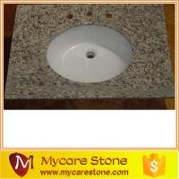 Wholesale Giallo ornamental new design granite bathrom, vanitytop with sink (good price from china suppliers