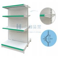 Wholesale OEM 4 Tier Double Back Plate Steel Supermarket Shelf from china suppliers