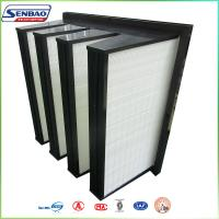 Wholesale ABS Plastic Frame V Bank Filters Fiberglass Media AHU Secondary from china suppliers