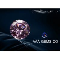 Wholesale 0.84CT pink Decorations Round moissanite gemstone for earrings / pendants from china suppliers