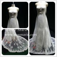 Wholesale Appliqued Lace Strapless Wedding Dress Bridal Gown with Rhinestones Band BYB-14503 from china suppliers