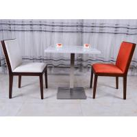 Wholesale Stainless Steel Marble Top Dining Room Tables Modern French Restaurant Table from china suppliers